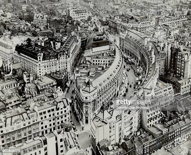 Concussion smashes windows in regent Oxford Bond Streets While Royal Air Force bombers struck their heaviest blows of the war at Berlin last night...