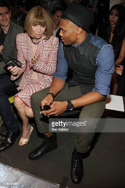 Conde Nast Artistic Director Anna Wintour and NBA basketball player Russell Westbrook attend the Rag Bone Women's Collection Spring 2014 fashion show...