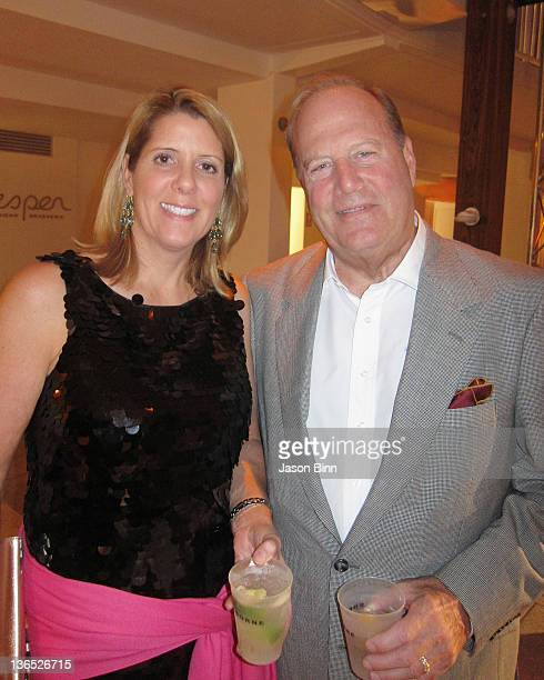 Conde Nast CEO Chuck Townsend and Jill Roosa pose at Art Basel circa December 2011 in Miami Florida