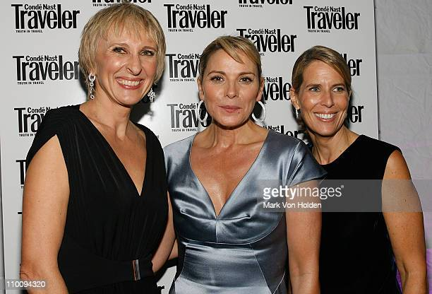 Conde Nast Editor in Chief Klara Glowczewska actress Kim Cattrall and Vice President and Publisher of Conde Nast Elizabeth H. Hughes during the Conde...