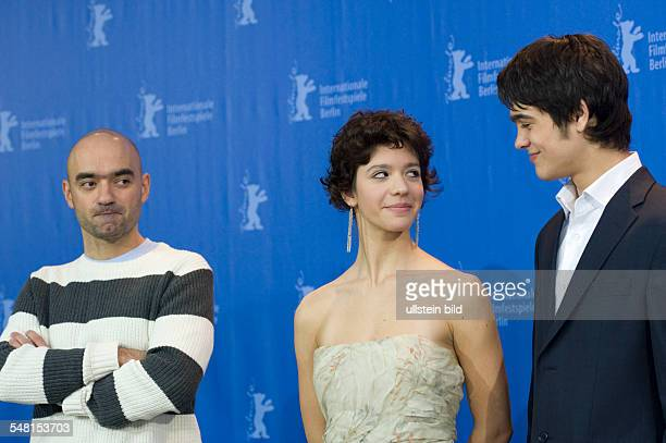 Condeescu Ada Actress Romania with Director Florian Serban und actor George Pistereanu at 60 International Berlin Film Festival Berlinale Germany