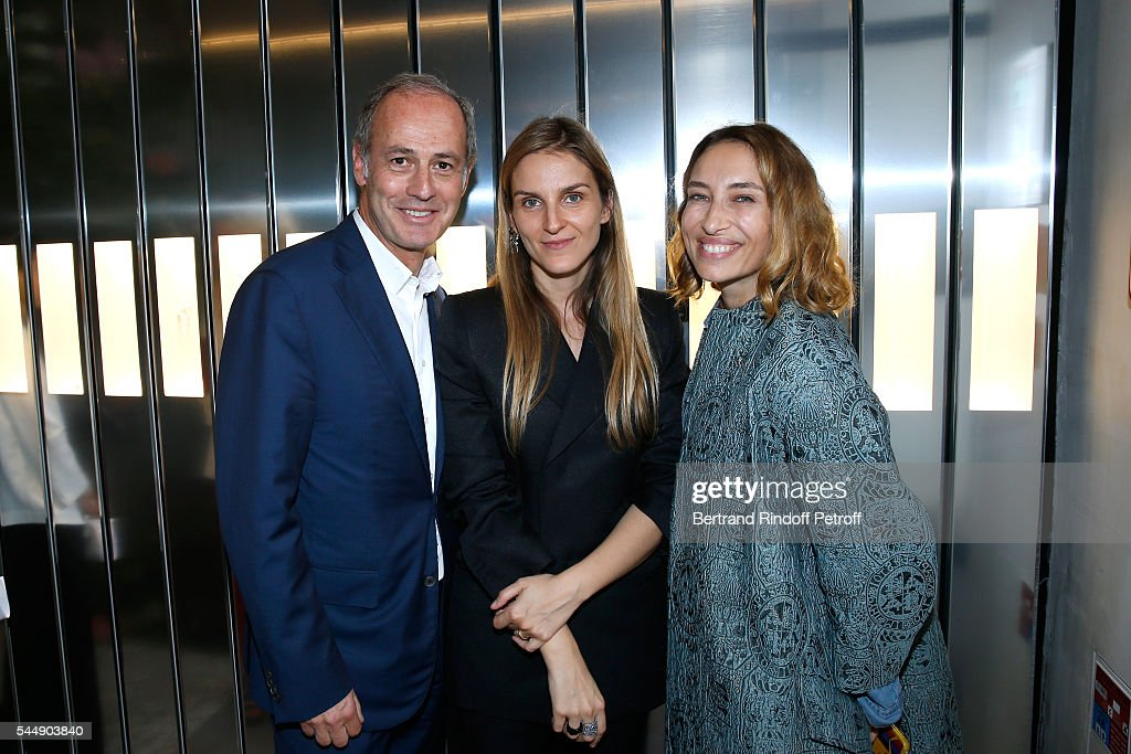 CEO Condenast France Xavier Romatet, Creative director of the Italian jewellery brand Repossi, Gaia Repossi and Alexandra Golovanoff attend the Repossi Vendome Flagship Store Inauguration at Place Vendome on July 4, 2016 in Paris, France.