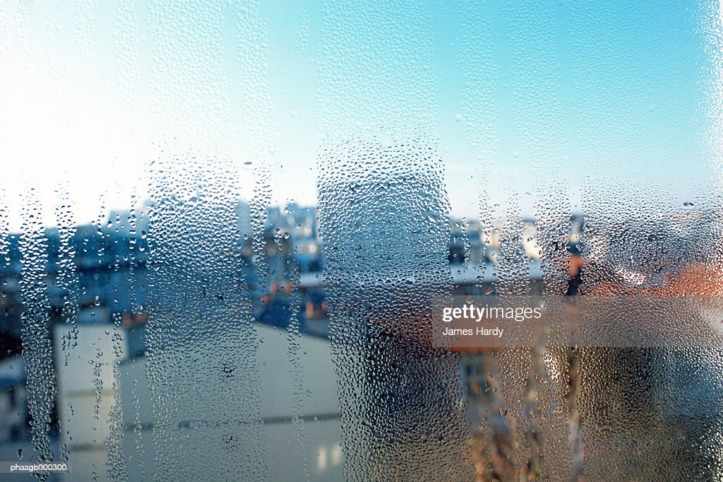 Condensation on window : Stock Photo