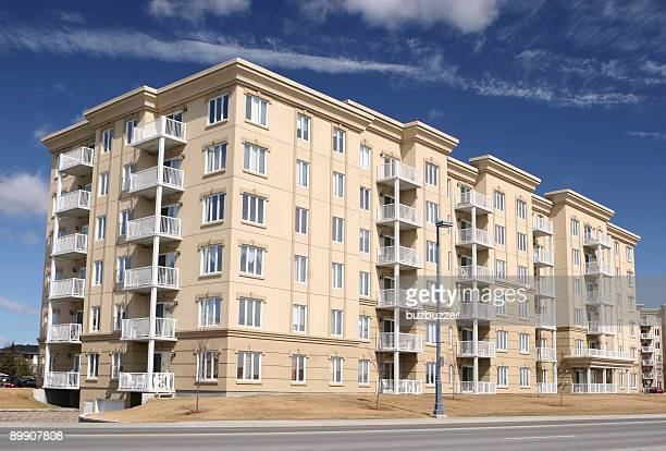 condo building exterior - buzbuzzer stock pictures, royalty-free photos & images