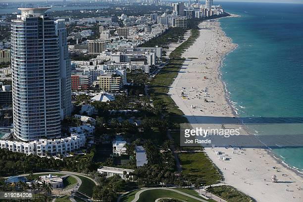 Condo buildings are seen April 5 2016 in Miami Beach Florida A report by the International Consortium of Investigative Journalists referred to as the...