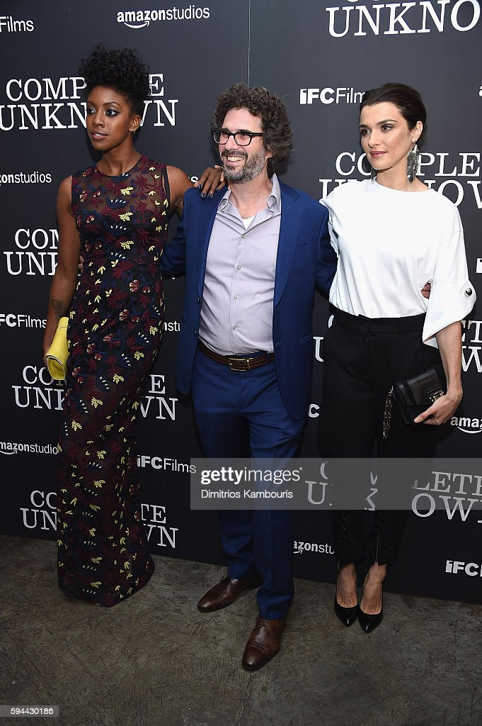 Condola Rasha, Screenwriter Joshua Marston and Rachel Weisz attend the 'Complete Unknown' New York Premiere at Metrograph on August 23, 2016 in New York City.
