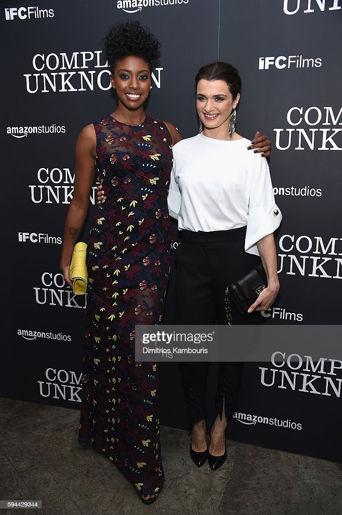 Condola Rashad and Rachel Weisz attend the 'Complete Unknown' New York Premiere at Metrograph on August 23, 2016 in New York City.