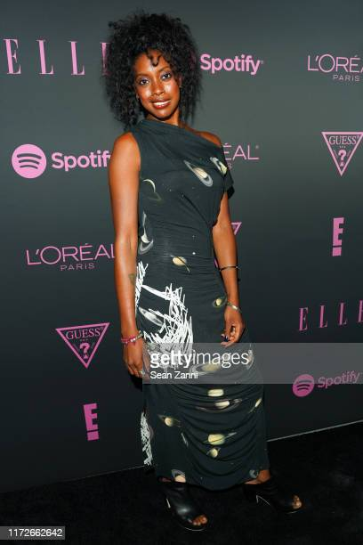 Condola Rashad attends Nina Garcia Jameela Jamil E Entertainment Host ELLE Women In Music Presented by Spotify at The Shed on September 05 2019 in...