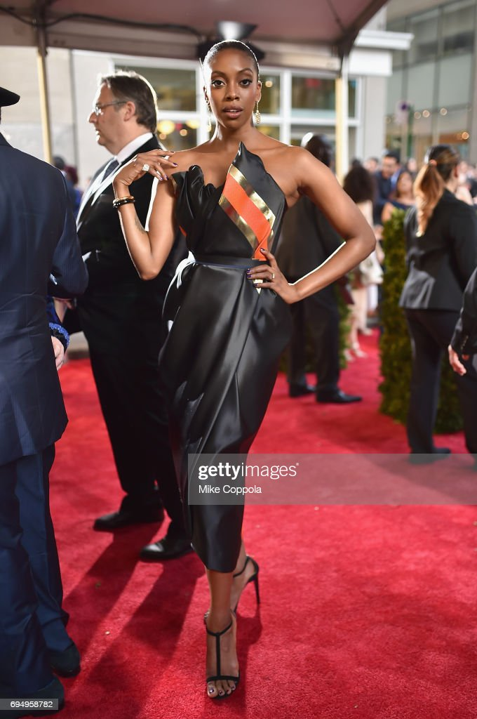 Condola Rashad attends the 2017 Tony Awards at Radio City Music Hall on June 11, 2017 in New York City.