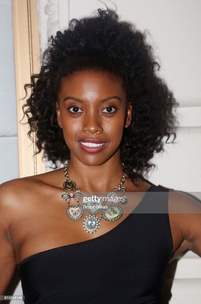 Condola Rashad poses at the opening night of the play 'A Doll's House Part 2' on Broadway at The Golden Theatre on April 27, 2017 in New York City.