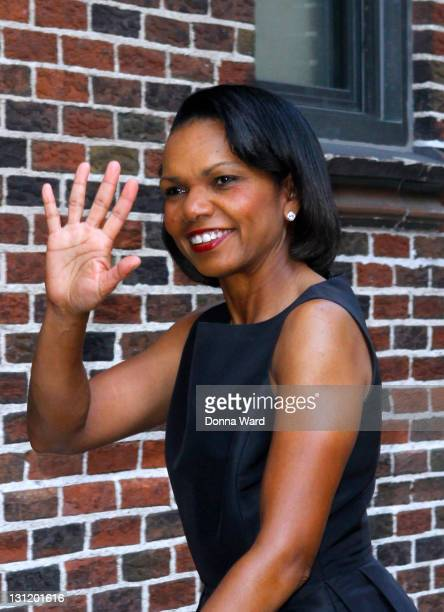 Condoleeza Rice arrives for the 'Late Show With David Letterman' at the Ed Sullivan Theater on November 2 2011 in New York City