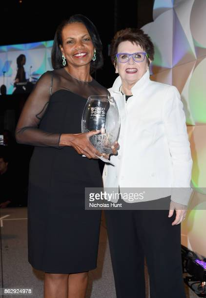 Condoleezza Rice and Billie Jean King attend The Women's Sports Foundation's 38th Annual Salute To Women in Sports Awards Gala on October 18 2017 in...