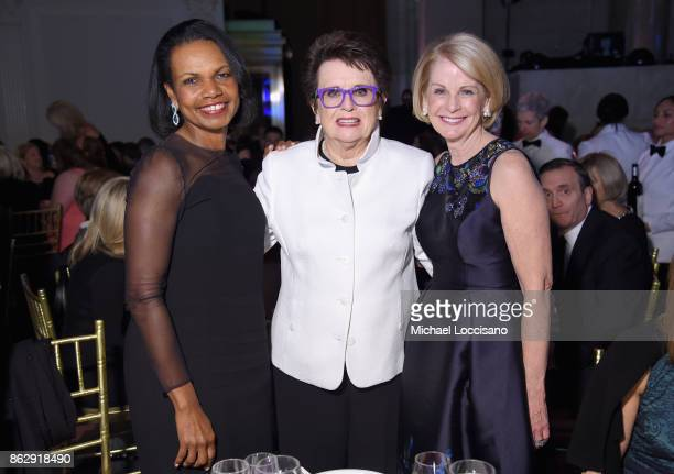 Condoleezza Rice Billie Jean King and CEO of WSF Deborah Antoine attend The Women's Sports Foundation's 38th Annual Salute To Women in Sports Awards...