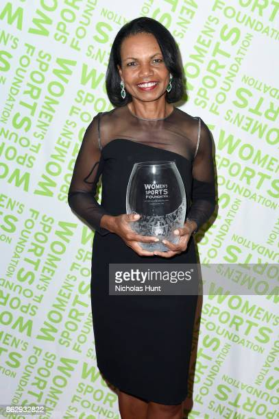 Condoleezza Rice receives the Billie Jean King leadership award during The Women's Sports Foundation's 38th Annual Salute To Women in Sports Awards...