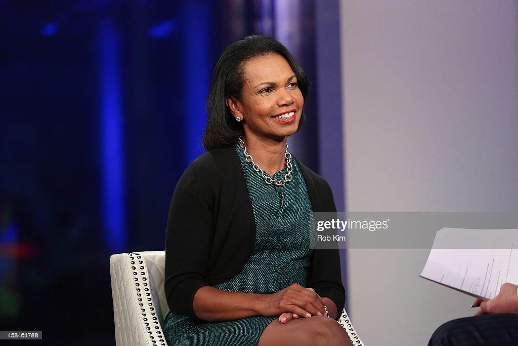 Condoleezza Rice Visits 'FOX And Friends' : News Photo