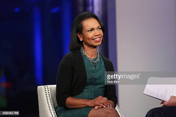 Condoleezza Rice visits 'FOX And Friends' at FOX Studios on November 5 2014 in New York City
