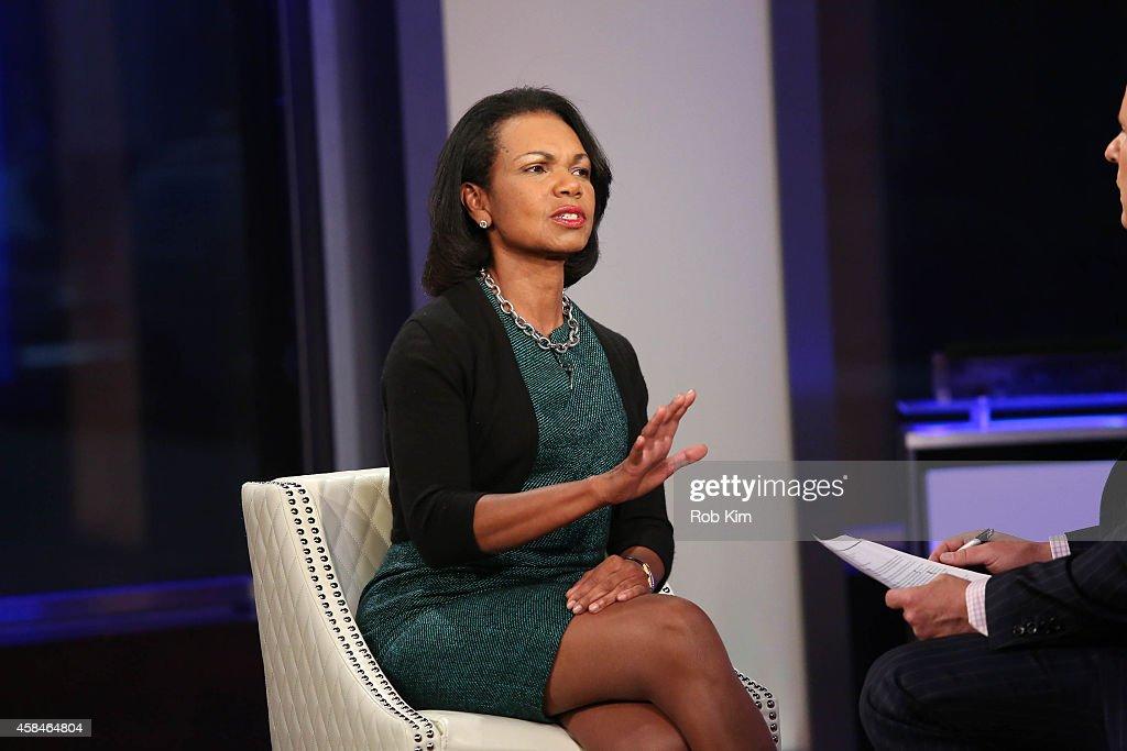 "Condoleezza Rice Visits ""FOX And Friends"" : News Photo"