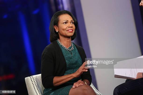 Condoleezza Rice visits FOX And Friends at FOX Studios on November 5 2014 in New York City