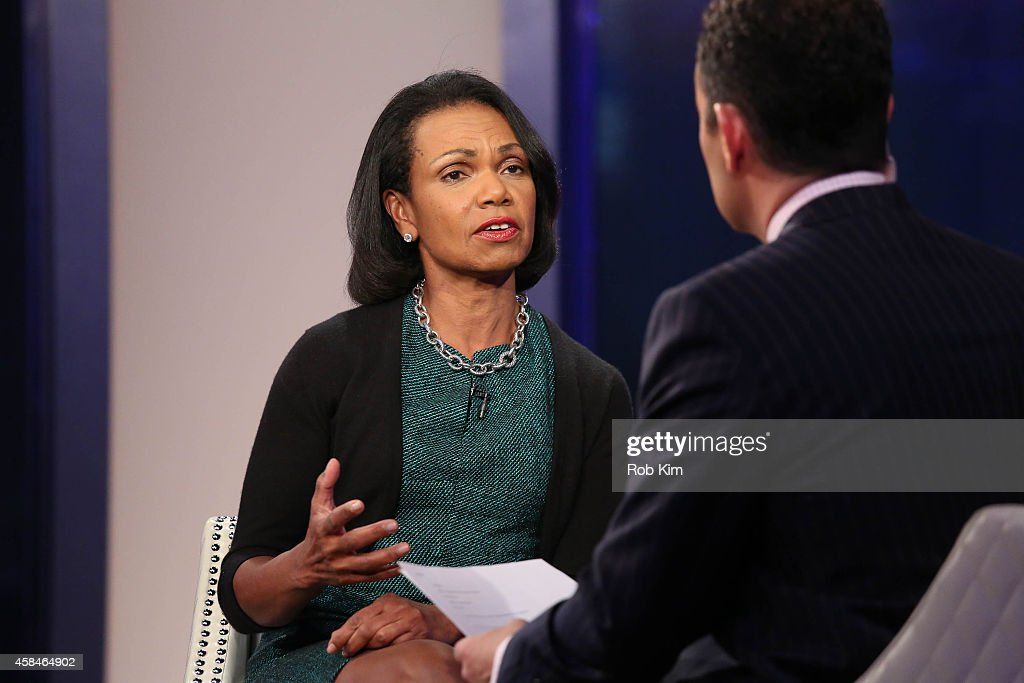 Condoleezza Rice visits 'FOX And Friends' at FOX Studios on November 5, 2014 in New York City.