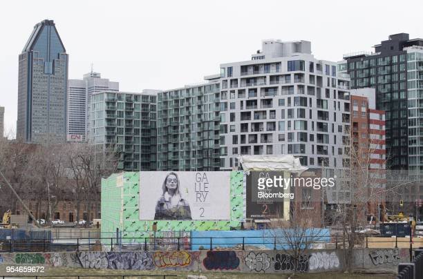 A condominium building sits under construction in the Griffintown neighborhood of Montreal Quebec Canada on Sunday April 15 2018 An economic revival...