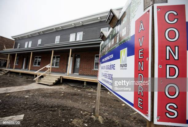 A condominium building stands under construction in Lachine Quebec Canada on Saturday April 14 2018 An economic revival in Canada's secondbiggest...