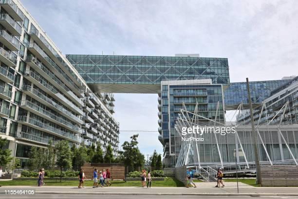 Condominium complex in downtown Toronto Ontario Canada on July 01 2019