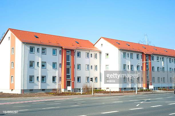 condominium - new sparse building in germany - real_property stock pictures, royalty-free photos & images