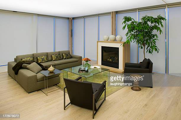 Condomínio Mostrar casa moderno Sala de Estar
