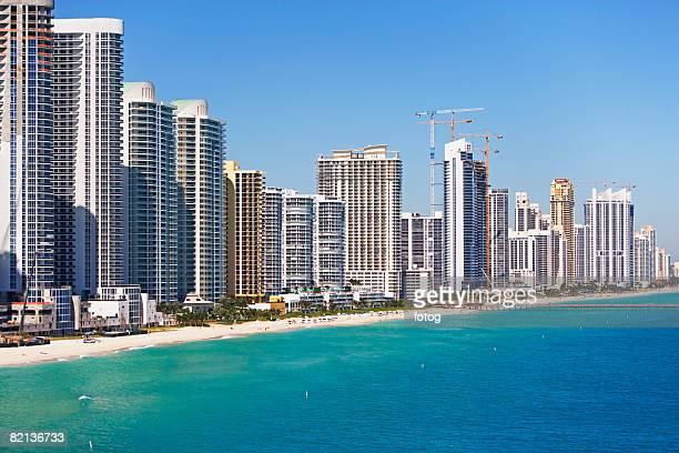 Condominiums along shore, Hollywood, Florida, United States