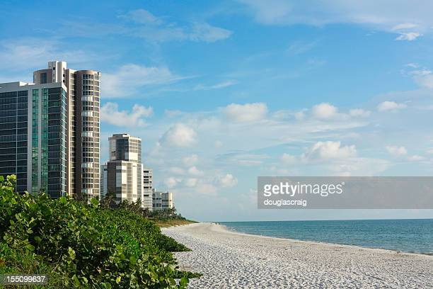condominiums along the florida coast - naples florida stock pictures, royalty-free photos & images