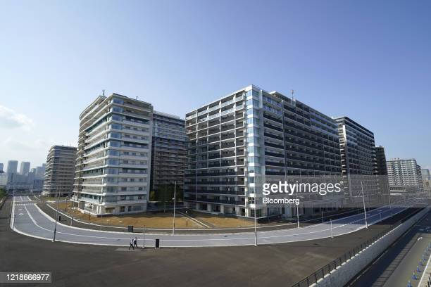 Condominiums stand in the Athletes Village for the now-postponed Tokyo 2020 Olympic and Paralympic Games in Tokyo, Japan, on Monday, June 8, 2020....
