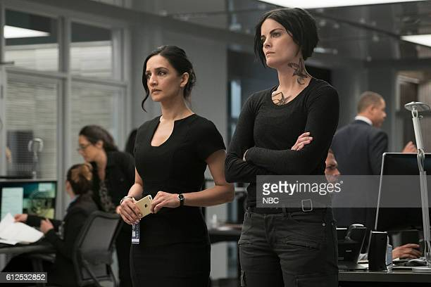 BLINDSPOT 'Condone Untidiest Thefts' Episode 205 Pictured Archie Panjabi as Nas Kamal Jaimie Alexander as Jane Doe