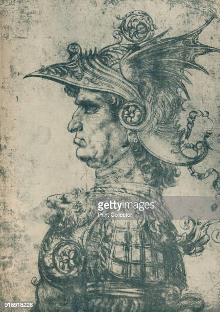 'A Condottiere' From the collection of the British Museum London From Master Draughtsmen No 2 Leonardo Da Vinci 14521519 [The Studio Limited William...