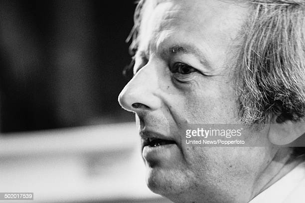 Conductor and composer Andre Previn pictured at the Royal Festival Hall in London on 27th January 1986