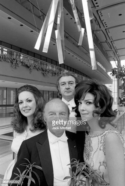 Conductor Andre Kostelanetz Anna Moffo Gail Robinson Edward Villella before a performance of Promenades April 16 1971