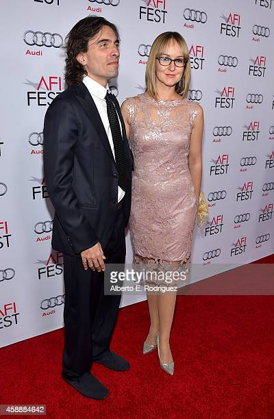 Conductor Carlo Ponti and violinist Andrea Meszaros Ponti attend the special tribute to Sophia Loren during the AFI FEST 2014 presented by Audi at...
