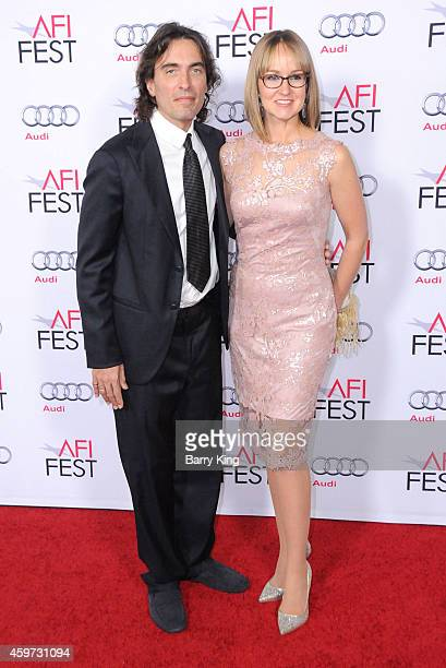 Conductor Carlo Ponti Jr and his wife Andrea Meszaros Ponti arrive at AFI FEST 2014 Presented By Audi A Special Tribute To Sophia Loren at Dolby...