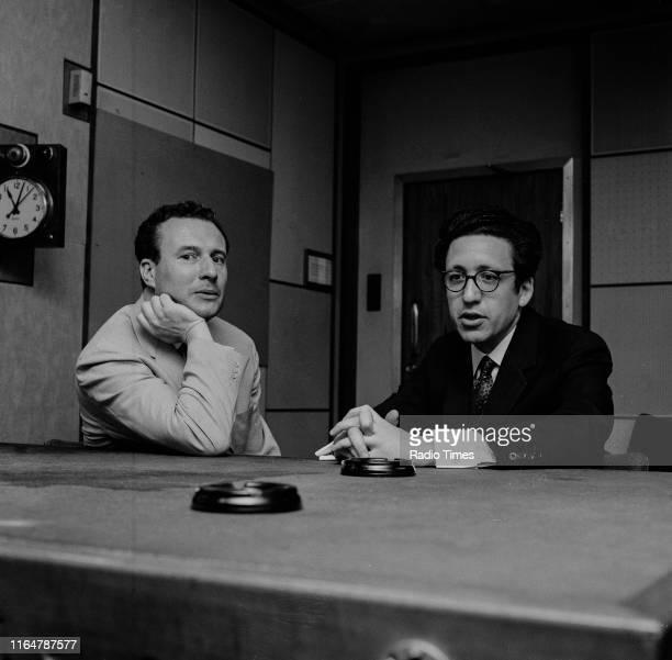 Conductor Colin Davis and journalist Bernard Levin in conversation in a BBC studio, August 5th 1970.