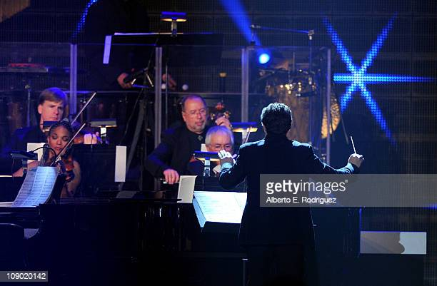 Conductor Doug Besterman performs onstage at the 2011 MusiCares Person of the Year Tribute to Barbra Streisand held at the Los Angeles Convention...