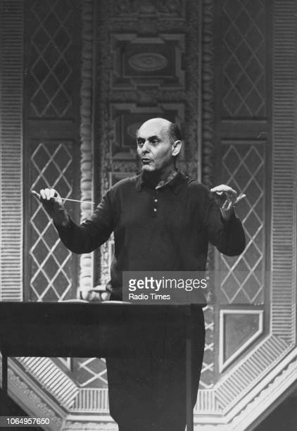 Conductor Georg Solti pictured at work, June 20th 1971.