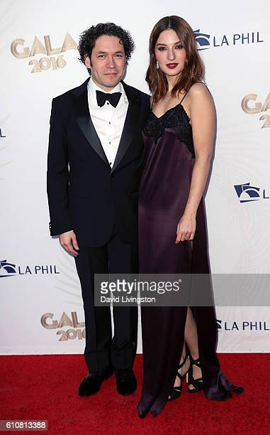 Conductor Gustavo Dudamel and actress Maria Valverde attend the Los Angeles Philharmonic 2016/17 Opening Night Gala Gershwin and the Jazz Age at Walt...