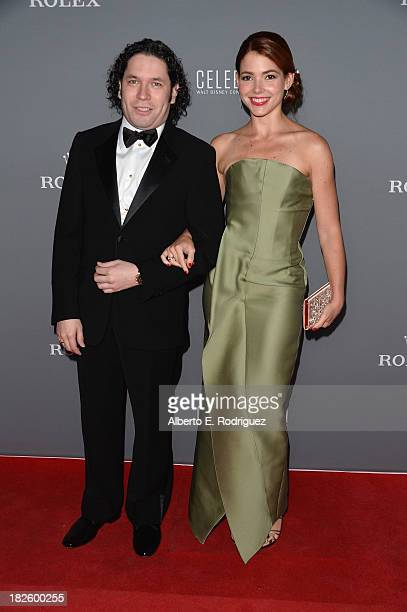 Conductor Gustavo Dudamel and dancer/journalist Eloisa Knife Maturen attends the Walt Disney Concet Hall's 10th Anniversary Gala at the Walt Disney...