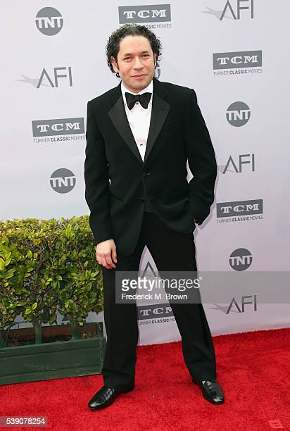 Conductor Gustavo Dudamel arrives at the American Film Institute's 44th Life Achievement Award Gala Tribute to John Williams at Dolby Theatre on June...