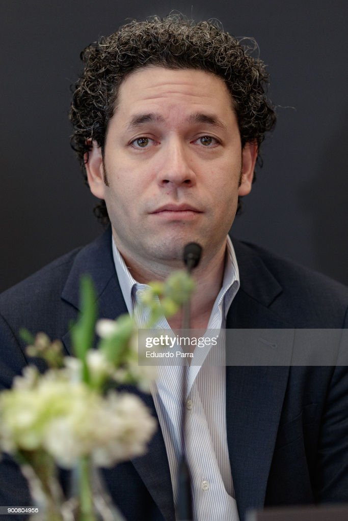 Conductor Gustavo Dudamel attends the 5th Formentor Sunset Classics last concert press conference at the Barcelo Torre de Madrid Hotel on January 3, 2018 in Madrid, Spain.
