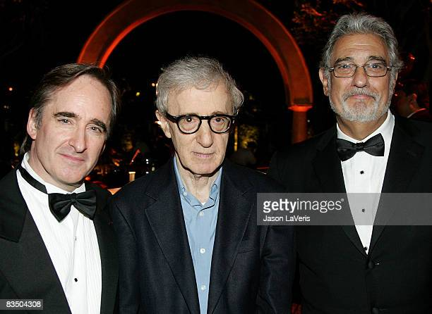 Conductor James Conlin Director/actor Woody Allen and tenor Placido Domingo attend the LA Opera season opening weekend at the Dorothy Chandler...