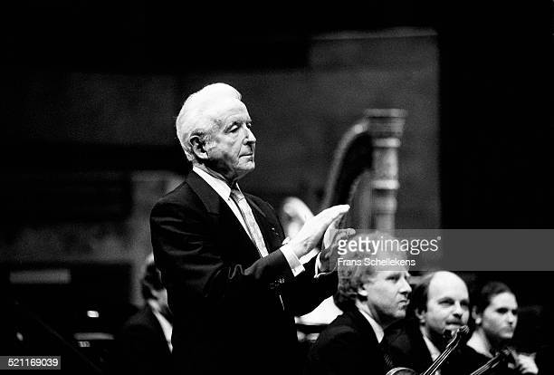 Conductor Jean Fournet on January 5th 1991 at Vredenburg in Utrecht, Netherlands.