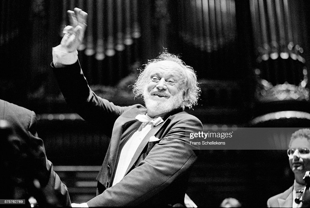 Conductor Kurt Masur Performs On June Rd  At The Concertgebouw In Amsterdam Netherlands