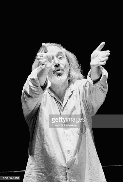 Conductor Lev Markiz performs on November 15th 1994 at the Beurs/Berlage in Amsterdam, Netherlands.