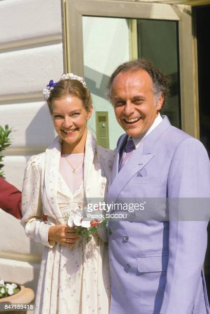Conductor Lorin Maazel s wedding with German actress Dietlinde Turban on June 7 1986 in France