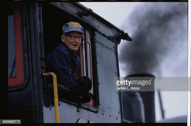 Conductor on Strasburg Railroad